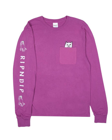 LORD NERMAL POCKET LS FUCHSIA