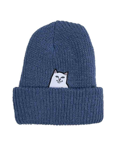 LORD NERMAL RIBBED BEANIE BLUE