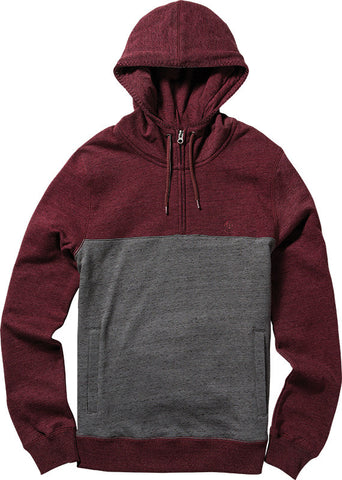 MERIDIAN 1/4 ZIP CHARCOAL HEATHER HOODIE