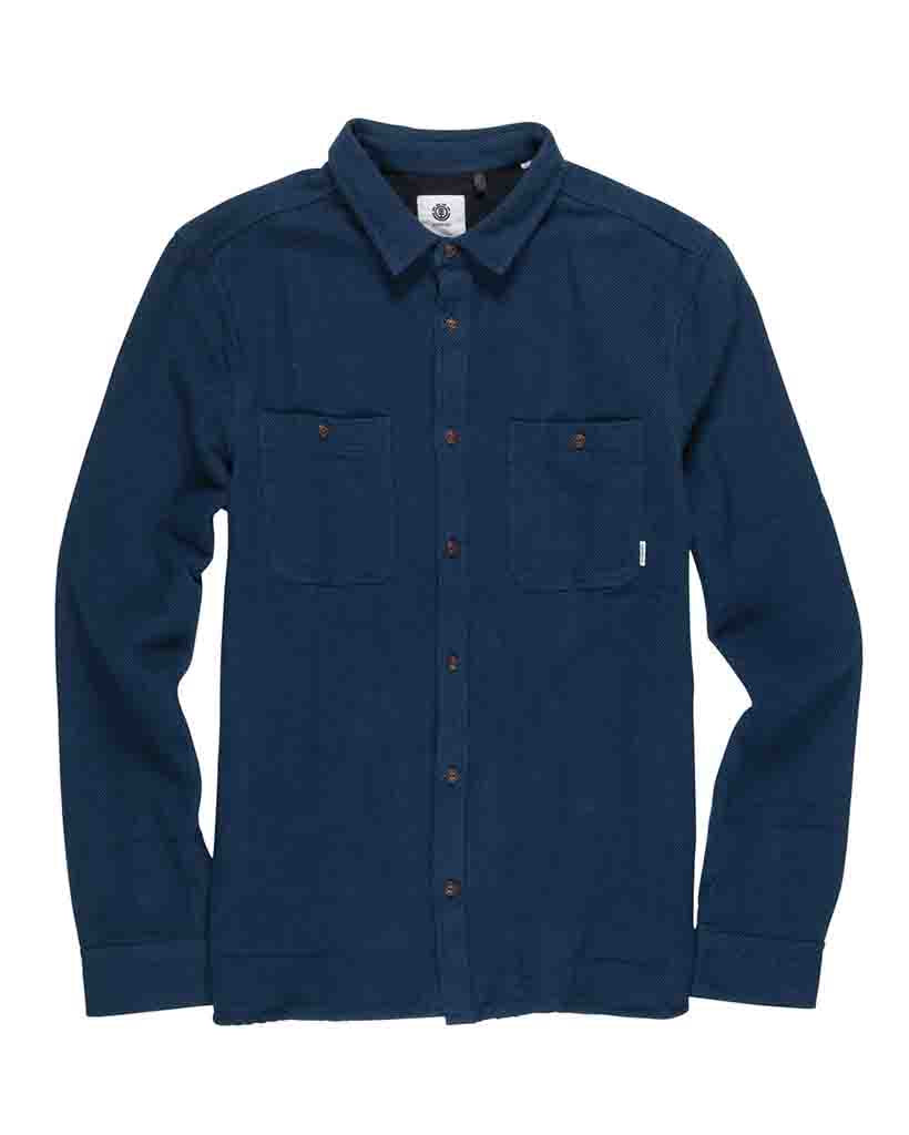 Chemise ELEMENT MARKUS FLANNEL SHIRT INDIGO
