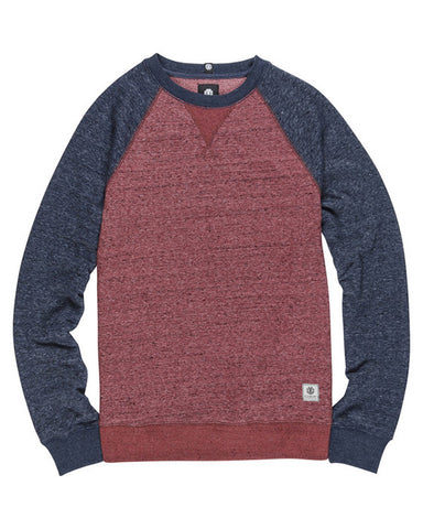 BOYS MERIDIAN CREW OXBLOOD RED