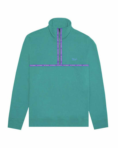 HUF MIDTOWN HALF ZIP FLEECE DEEP JUNGLE sweater