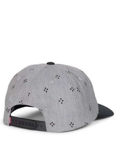 Casquette HERSCHEL MOSBY COTTON HEATHERED GREY JAPANESE POLKA DOT/ BLACK