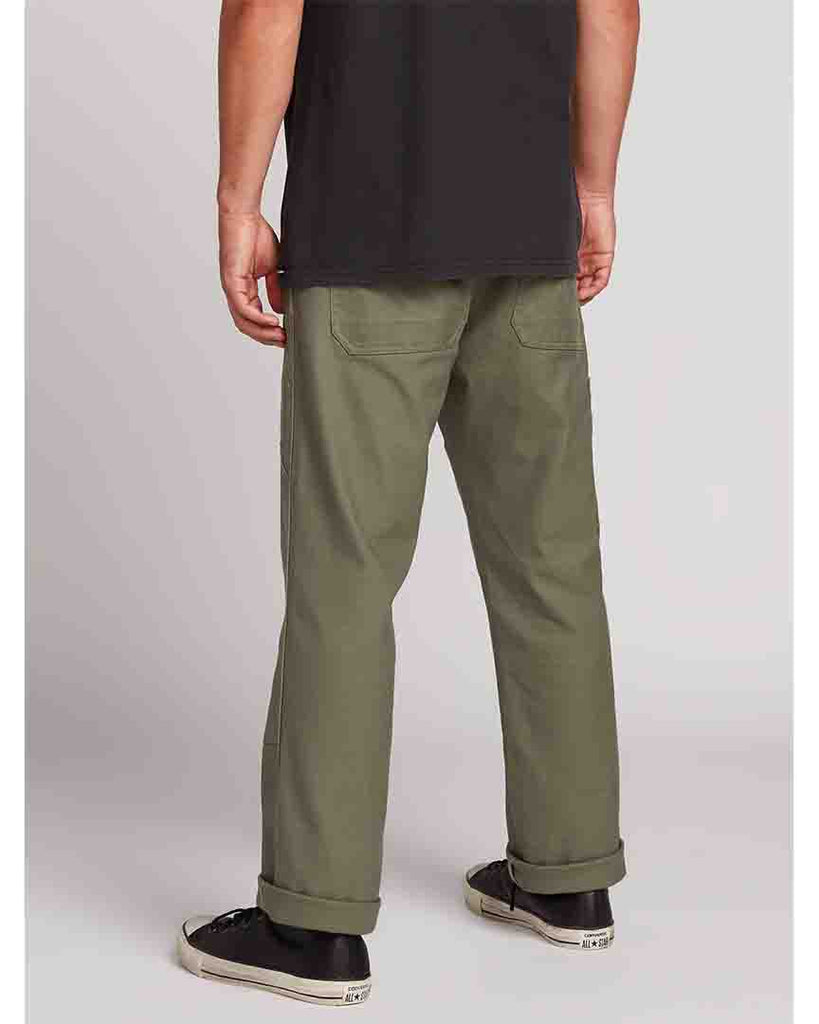 Pantalon de nylon VOLCOM NAILER CANVAS PANTS - ARMY GREEN COMBO