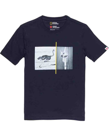 NAT GEO OSTRICH TEE ECLIPSE NAVY