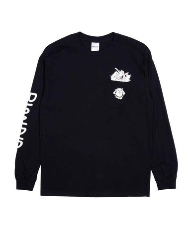 NERMAMANIAC LS POCKET TEE BLACK