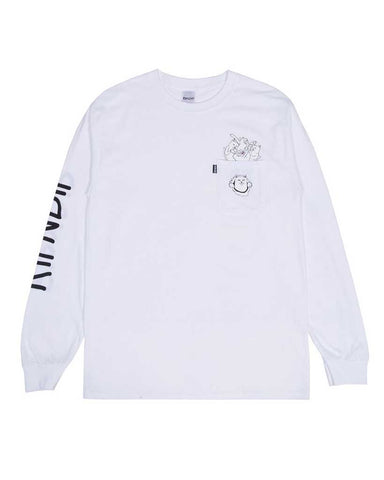NERMAMANIAC LS POCKET TEE WHITE