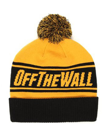 VANS Tuque OFF THE WALL POM MINERAL YELLOW 481ceeb27ee8