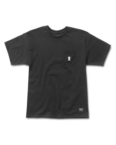 OG BEAR EMBROIDERED POCKET TEE BLACK