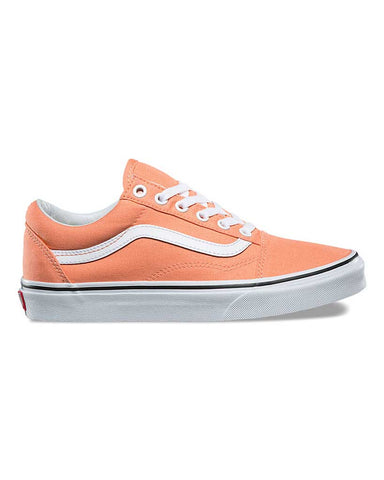 OLD SKOOL PEACH PINK TRUE WHITE