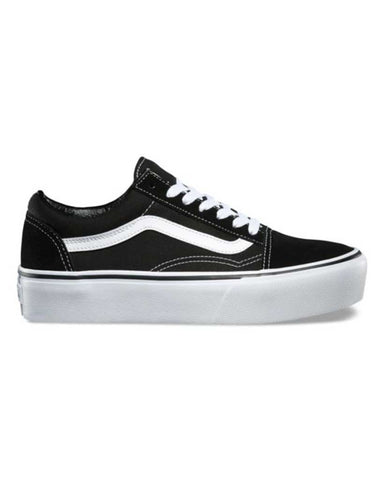 VANS OLD SKOOL PLATFORM BLACK-WHITE SHOES