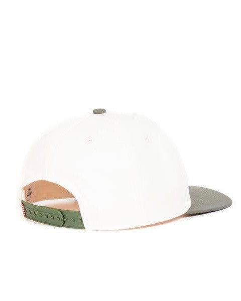 HERSCHEL OUTFIELD Cap COTTON JUNIOR NATURAL / DEEP LICHEN GREEN