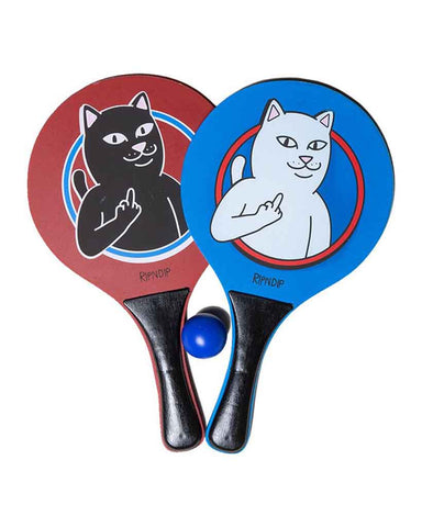 PADDLE BALL SET BLUE-RED