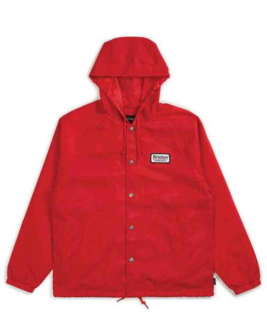 PALMER HOOD JACKET RED NAVY