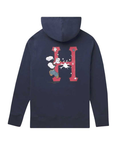 POPEYE CLASSIC H PULLOVER HOODIE NAVY