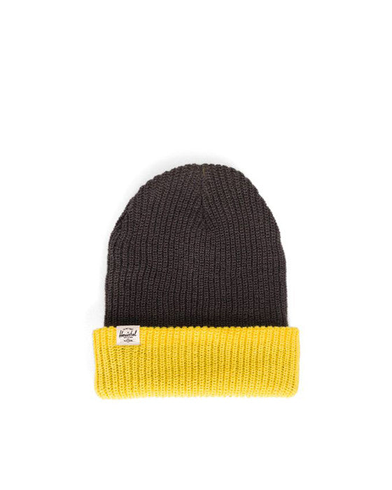Tuque HERSCHEL QUARTZ YOUTH ACRYLIC CHARCOAL YELLOW