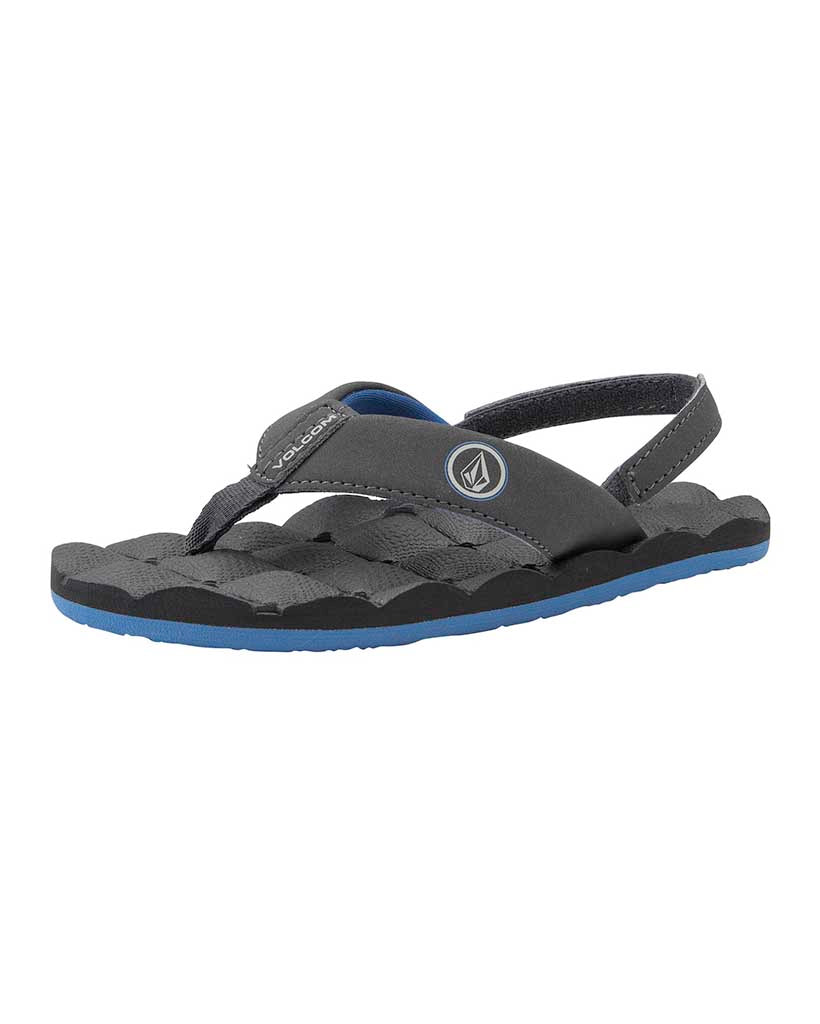 Shoes VOLCOM RECLINER SANDAL LITTLE YOUTH BLUE COMBO