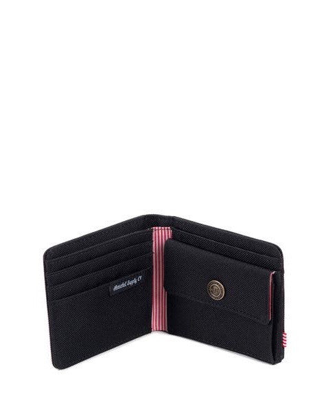HERSCHEL ROY 600D POLY BLACK COIN Purse