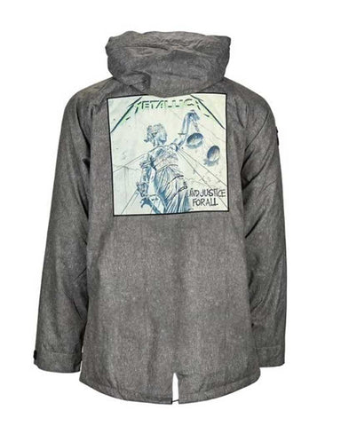 SESSIONS X METALLICA COLLAB JACKET CHARCOAL