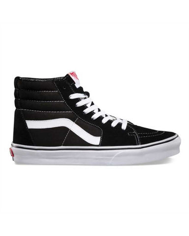 VANS ICONIC SK8-HI BLACK-BLACK-WHITE SKATE SHOES