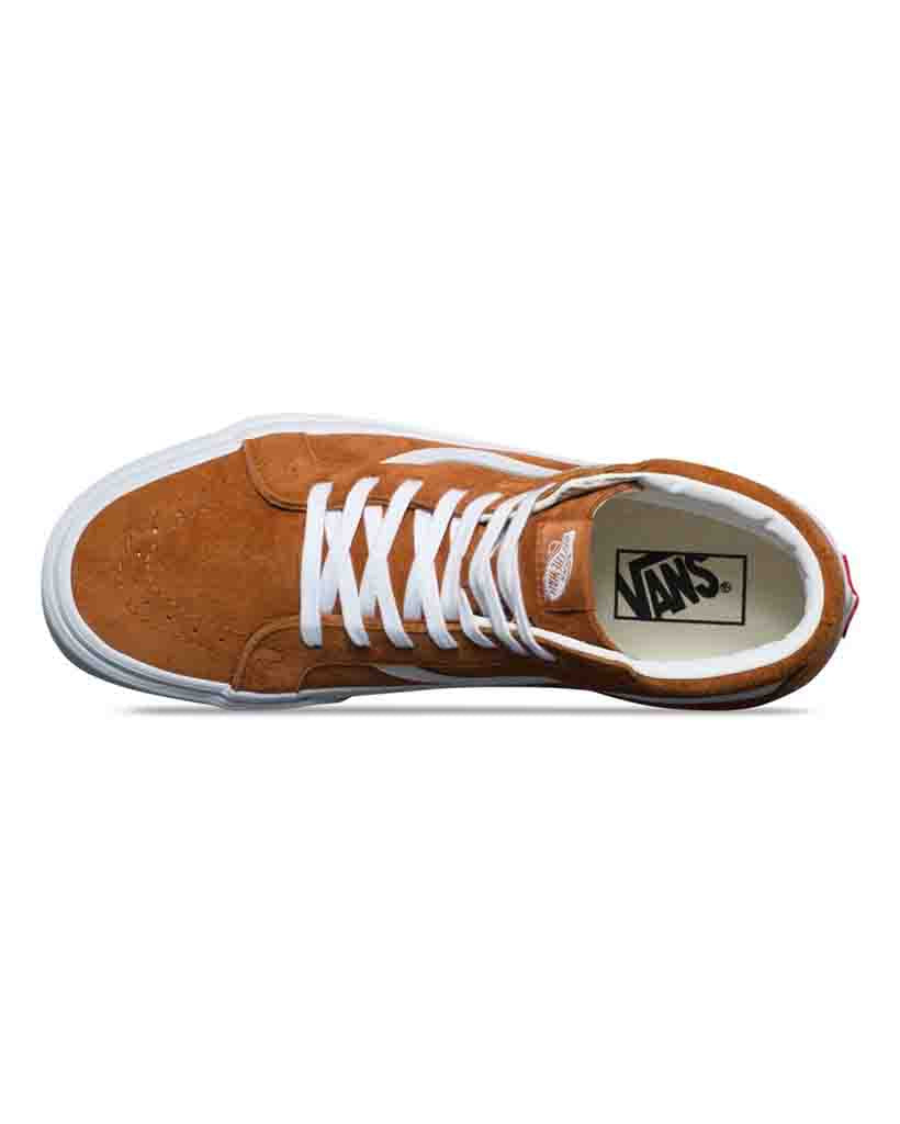 Souliers VANS SK8-HI REISSUE PIG SUEDE LEATHER BROWN TRUE WHITE