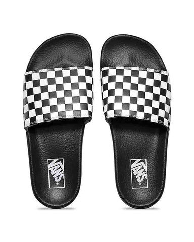 MENS SLIDE-ON CHECKERBOARD BLACK
