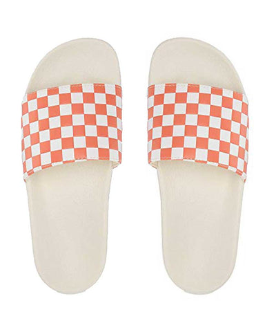 WOMENS SLIDE-ONE CHECKERBOARD CARNELIAN