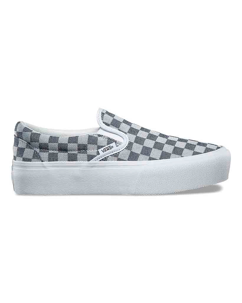 Souliers VANS SLIP-ON PLATFORM CHECKERBOARD