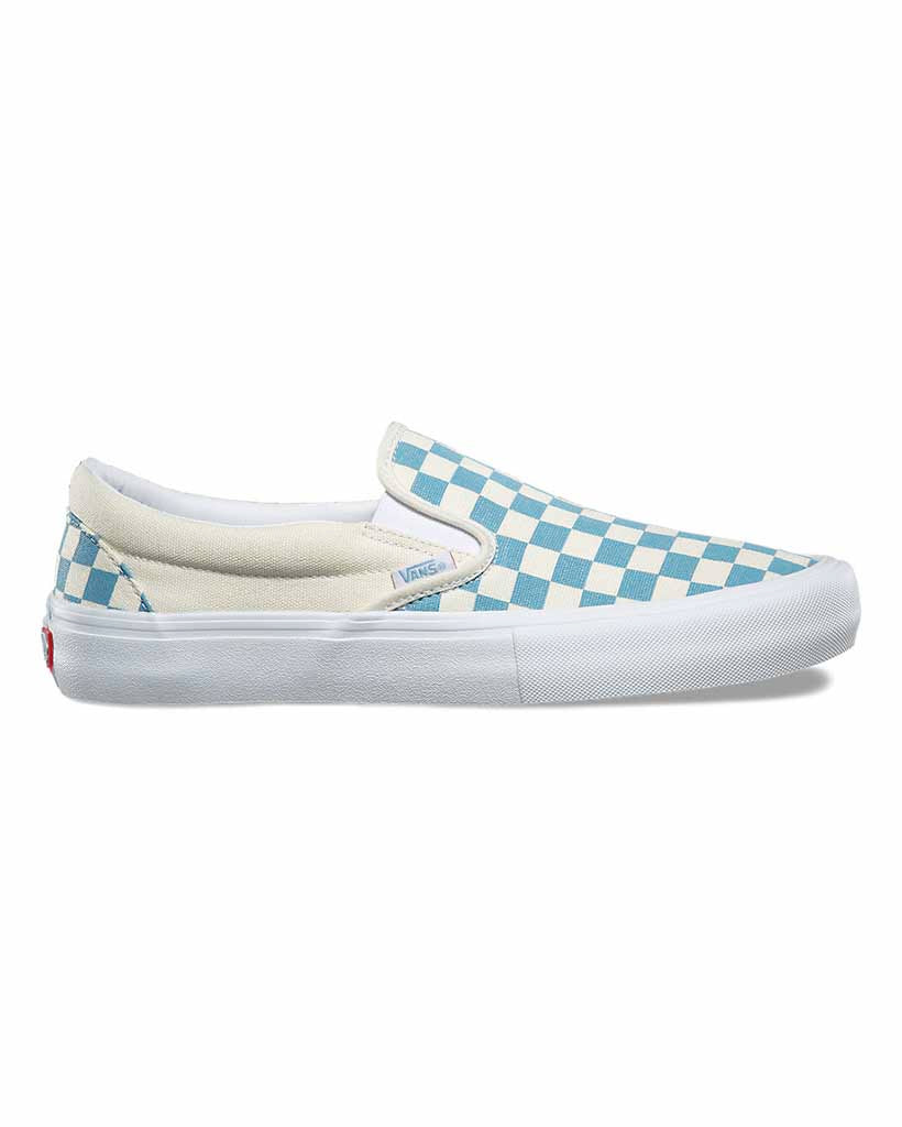 Vans Slip On Pro Shoes Checkerboard Adriatic BlueWhite