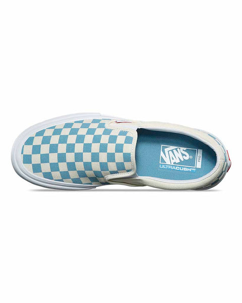 213614f617 VANS SLIP-ON PRO CHECKERBOARD ADRIATIC BLUE - Boutique Adrenaline