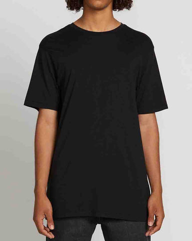 SOLID SHORT SLEEVE TEE - BLACK