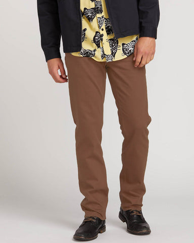 SOLVER 5 POCKET SLUB MODERN JEANS FIT - DARK BROWN