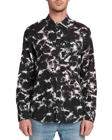SPINNER FLANNEL LONG SLEEVE - BLACK
