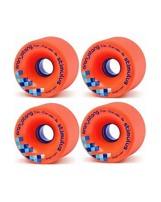 ORANGATANG STIMULUS ORANGE 80A 70MM longboard wheels