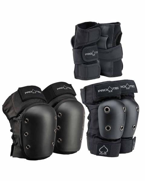 Protection PRO-TEC STREET GEAR JR 3 PACK - BLACK