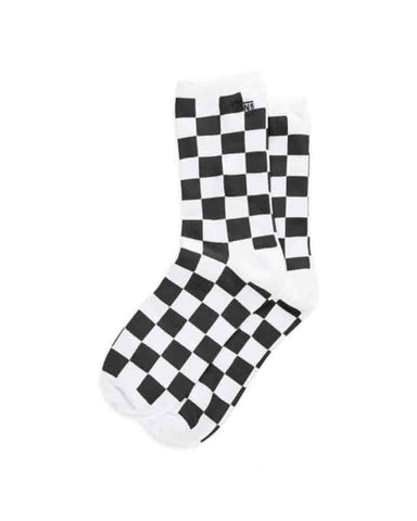 TICKER SOCK BLACK CHECKERBOARD