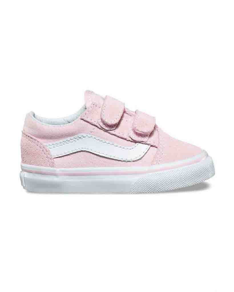 Souliers VANS TODDLER OLD SKOOL V CHALK PINK WHITE