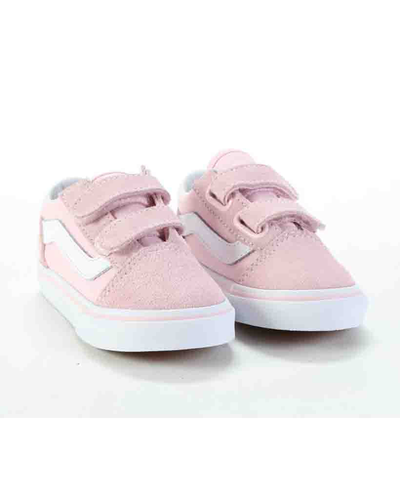VANS TODDLER OLD SKOOL V CHALK PINK WHITE Shoes