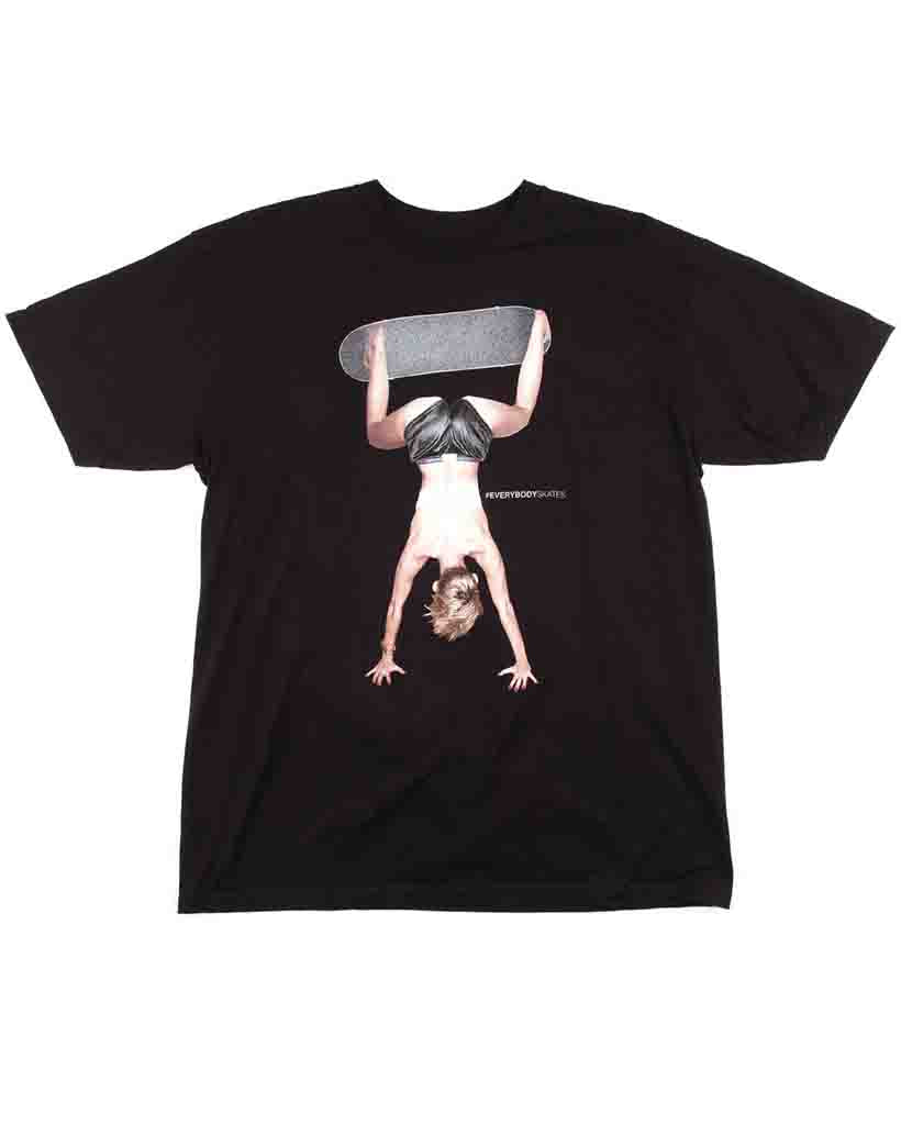 T-shirt EVERYBODY SKATES TWERKBOARDING BLACK
