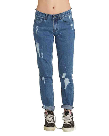 TWIRL DESTRUCTION JEANS INDIGO WASH