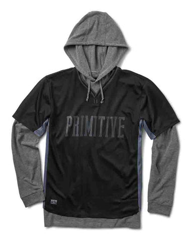 TWO-FER BASEBALL HOOD BLACK
