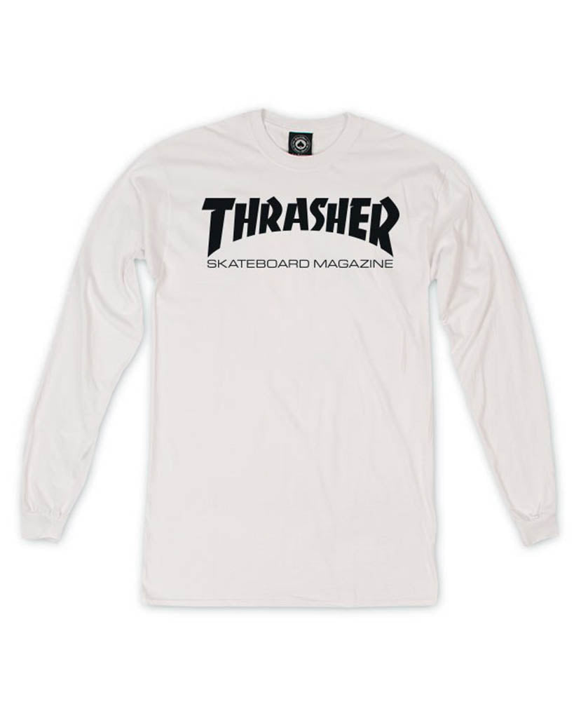 Long sleeve t-shirt THRASHER SKATE MAG LS WHITE