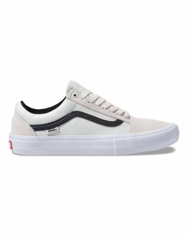 VANS BALLISTIC OLD SKOOL PRO MARSHMALLOW-BLACK SKATE SHOES