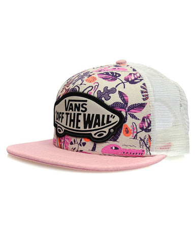 BEACH GIRL TRUCKER FLORAL JACQUARD