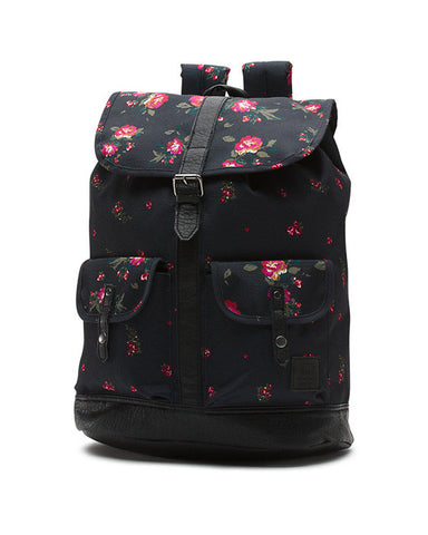LEAN IN BACKPACK FLORAL BLACK BLACK