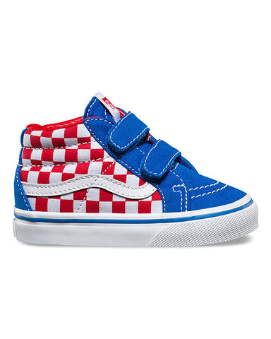 TODDLER SK8-MID REISSUE V RACING RED CHECKERBOARD