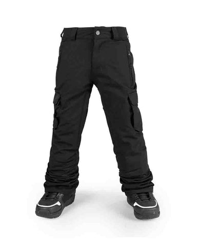 BIG KIDS CARGO INSULATED SNOW PANTS BLACK