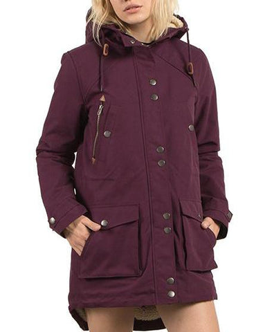 WALK ON BY PARKA PLUM