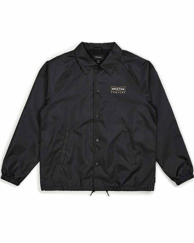 WEDGE COACH JACKET - BLACK/BRONZE