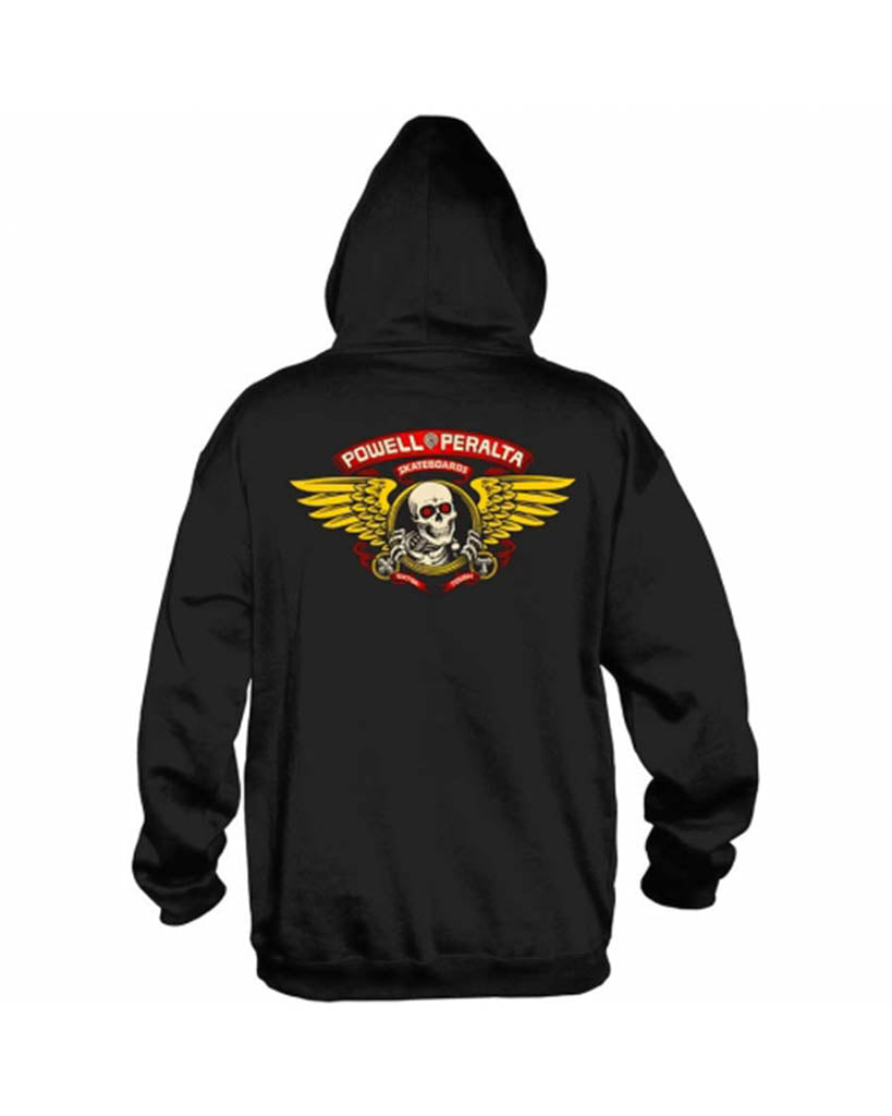 Hoodie POWELL PERALTA WINGED RIPPER MD WEIGHT BLACK